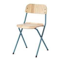 IKEA VASSAD Folding Chair Foldable Which Makes It Easy To Store No Assembly Required Dining ChairsDining RoomsFolding