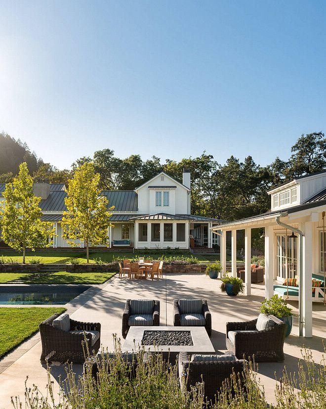 Backyard Layout. Backyard with pool, pool house, patio