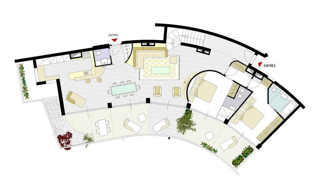 plan appartement tour odeon