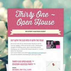 c8e15b2f7a64da99fa216a7f0136b00f wording for thirty one catalog party invitations google search,Thirty One Invitations