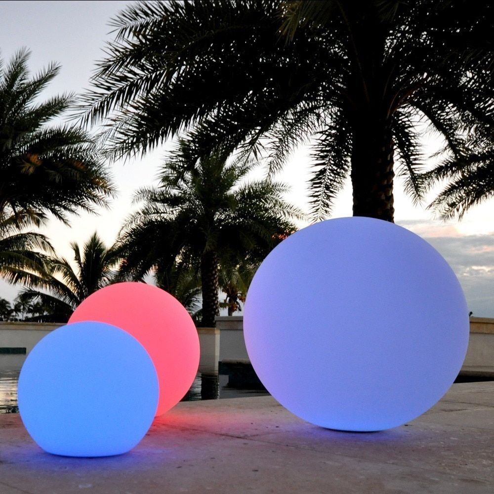 Publiclight led illuminated all in 1 orb light floating pool ball led floating ball lamp led garden floor ball light decoration for house mozeypictures Gallery