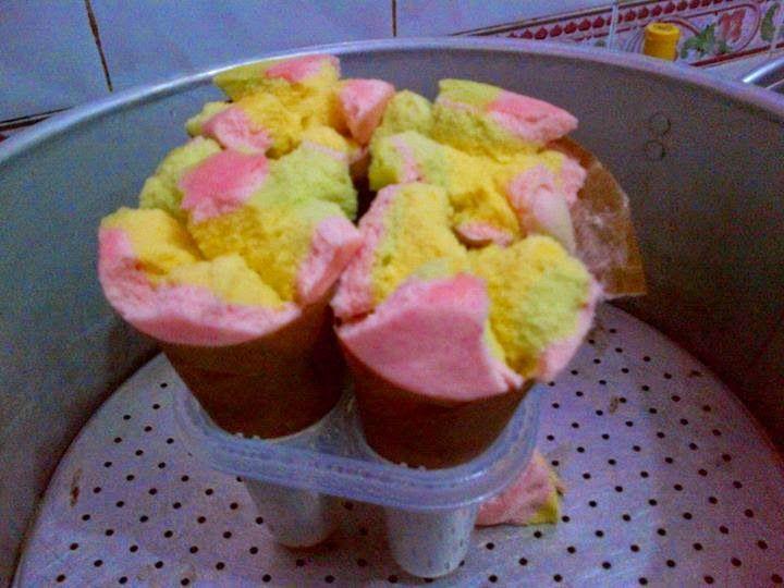 Resep Bolu Kukus Mekar Dan Bolu Kukus Cornetto Bolu Cake In A Cone Food