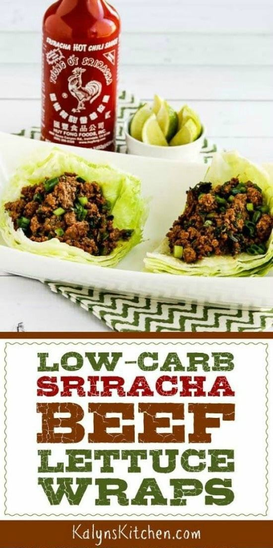 Sriracha Beef Lettuce Wraps Low-Carb Sriracha Beef Lettuce Wraps are one of my favorite things to make for a quick dinner! These spicy lettuce wraps with beef are absolutely delicious, and the recipe is low-carb, gluten-free, dairy-free, and South Beach Diet friendly. And with a f