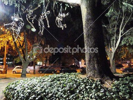 A park at Arles at night, France