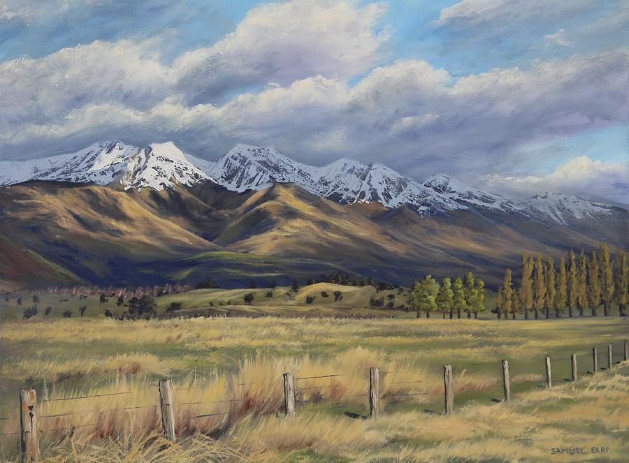 Central Otago Mountains Canvas Print / Canvas Art by Samuel Earp