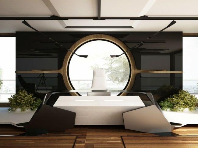 moderne Büro Einrichtung minimalistische Hochglanz … | Pinteres…