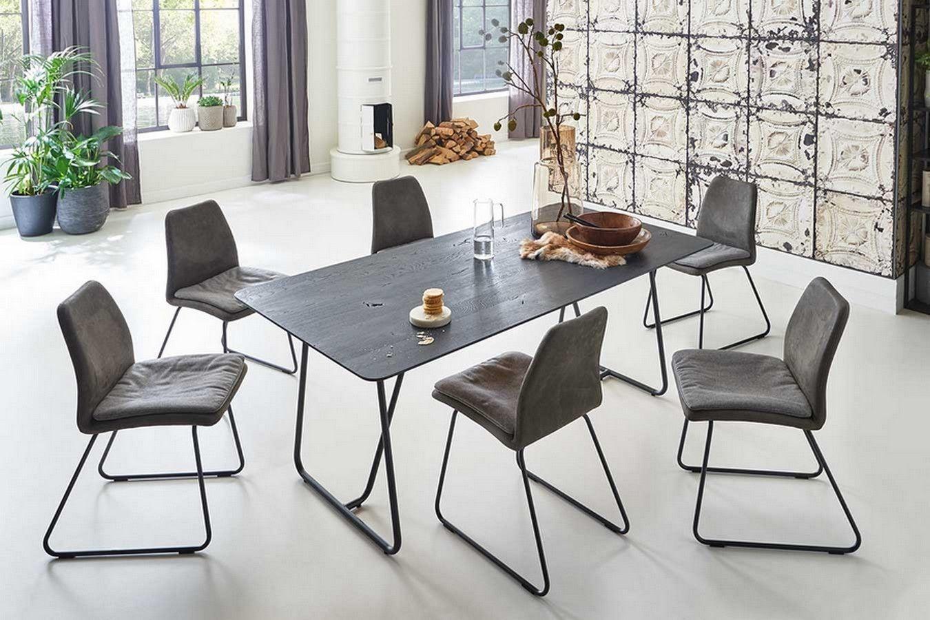 Design Tisch Eicheplatte Und Holzbeine Online Bei Lagerhaus De Gartenmobel Sets Design Tisch Tisch