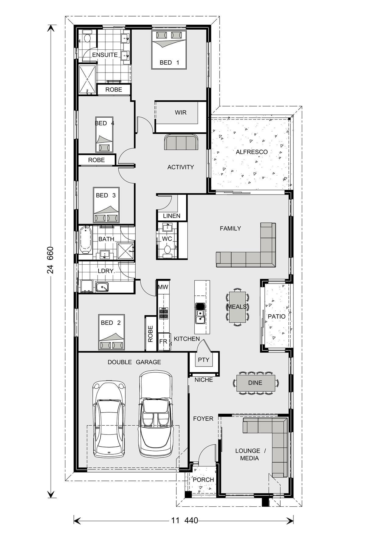 Oceanside 226 Home Designs In Orange House Design Australian House Plans Bungalow House Plans