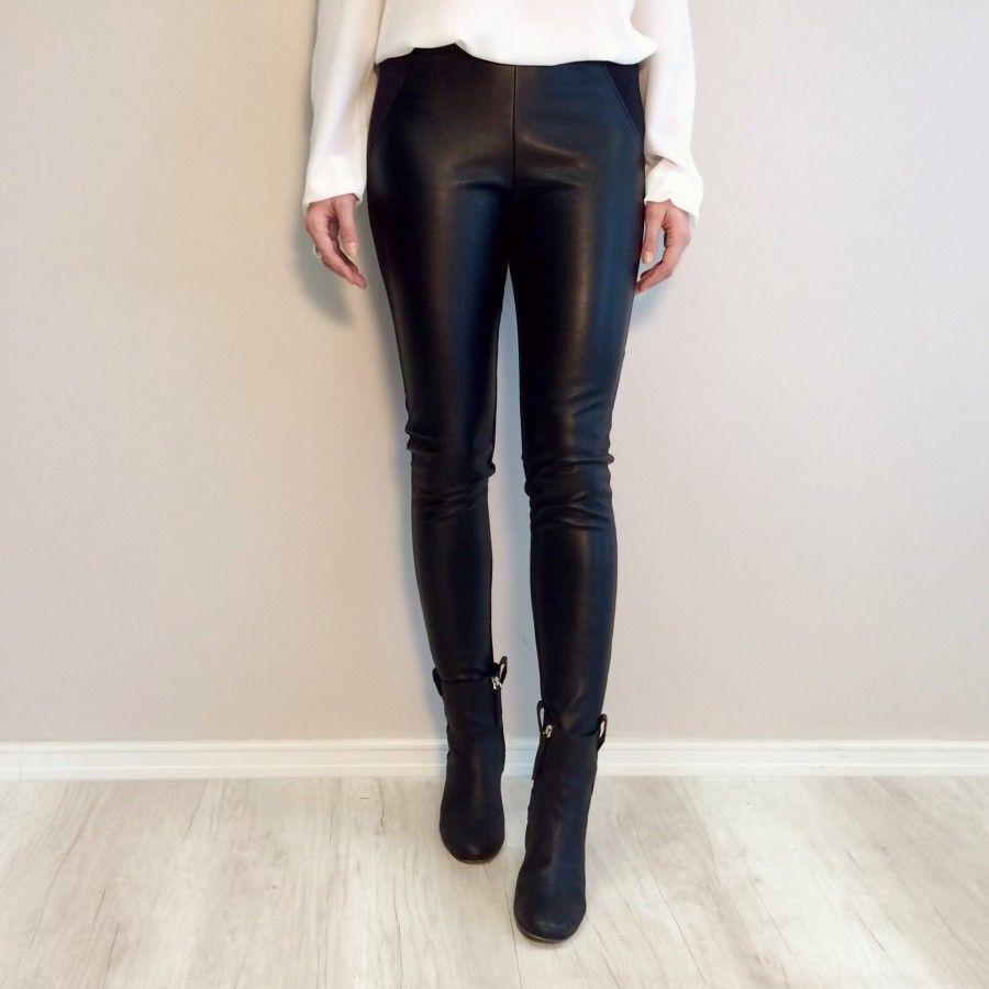 calça montaria couro preta