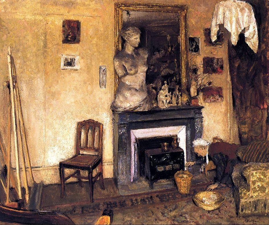 Edouard Vuillard / Madame Vuillard Lighting the Stove, 1924