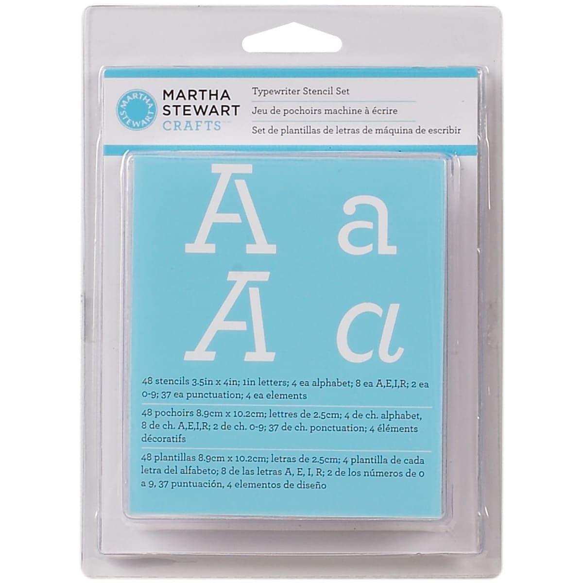 Plaid:Craft Martha Stewart Alphabet Stencils 48/Pkg