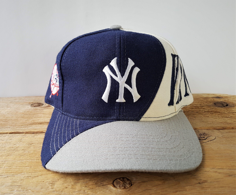 Vintage 90s New York Yankees Snapback Hat Drew Pearson Etsy In 2020 New York Yankees Yankees Snapback Hats