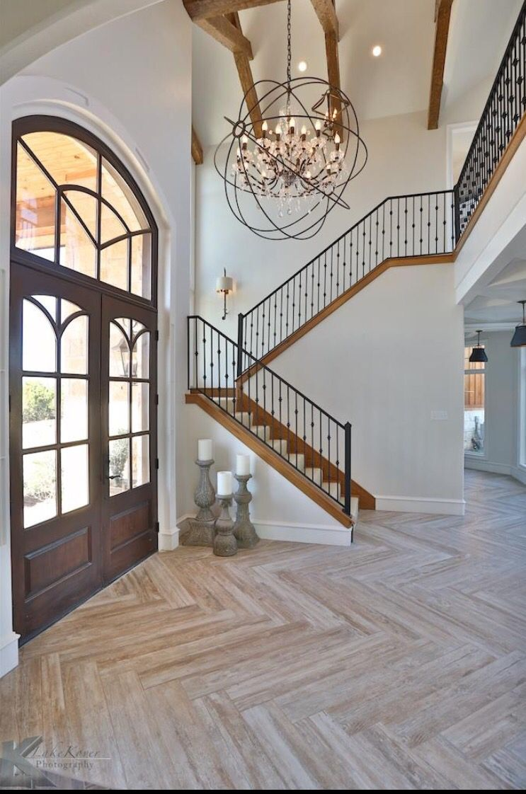 best foyer lighting. herringbone floor - wood ceramic this or another color? m love the floors and open entryway best foyer lighting