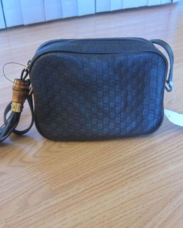 548e88a3e Gucci Sunshine Microguccissima Disco Black Leather Crossbody Bag.!!! NEW.