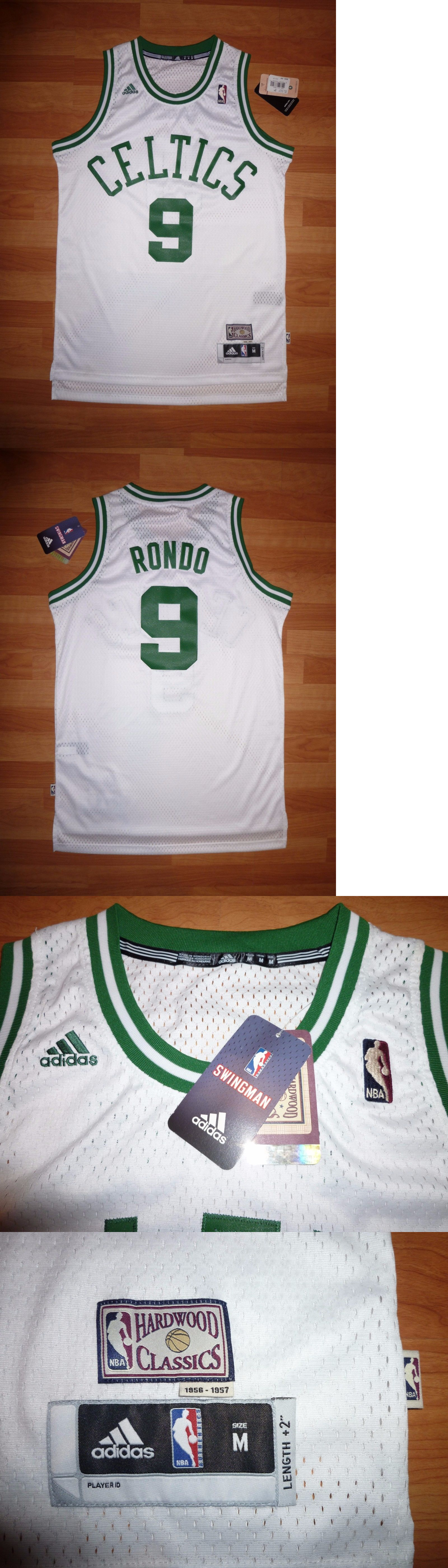 5eaf3f323f1a Basketball-NBA 24442  Nwt  9 Rajon Rondo Adidas Boston Celtics Hwc Whte  Swingman