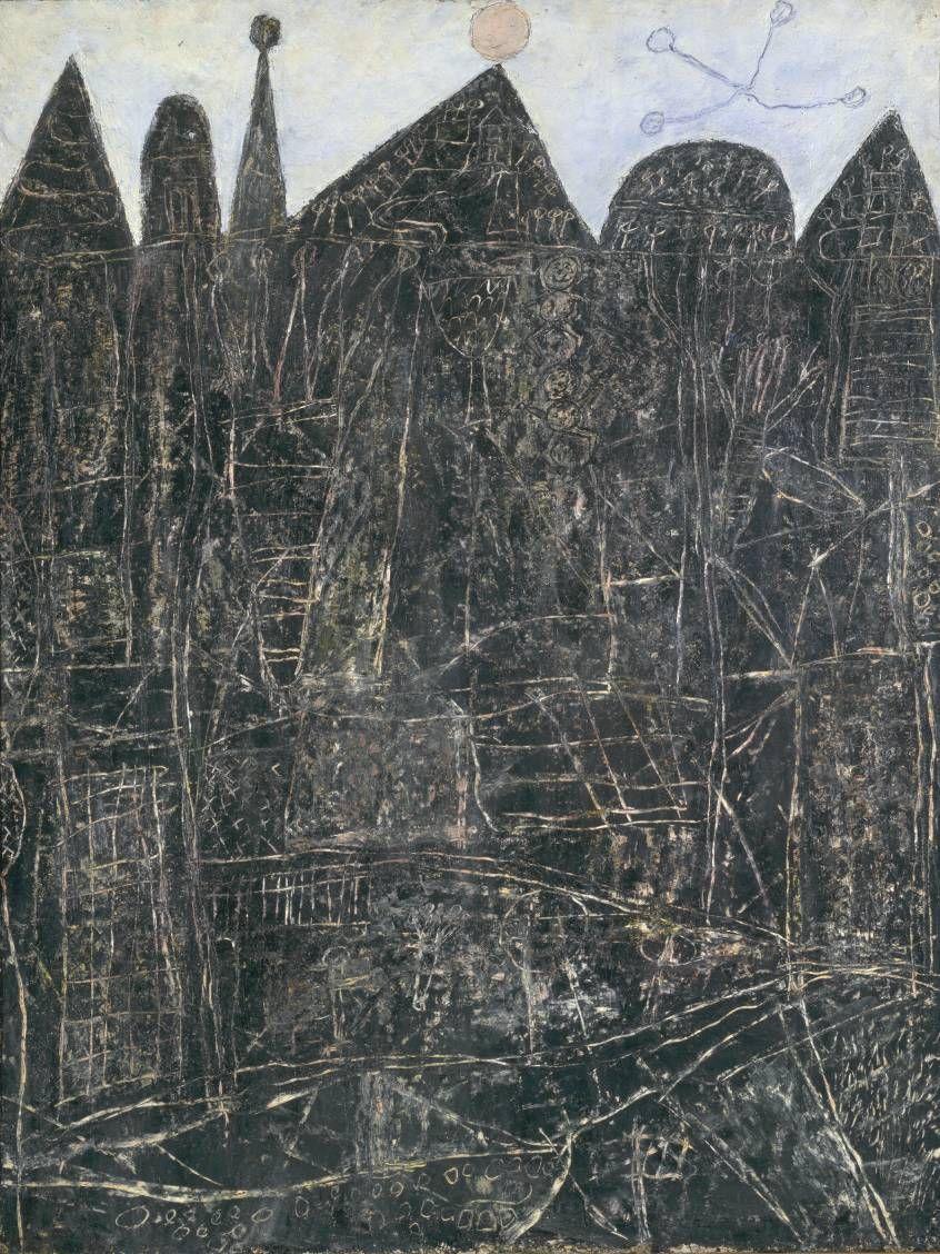 Jean Dubuffet: Large Black Landscape