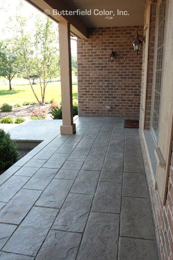 Pin On Stamped Concrete Butterfield Color