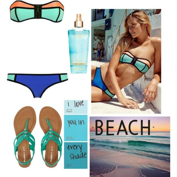 The beach by beachbab on Polyvore featuring polyvore, fashion, style, Aéropostale, Rosanna and Børn