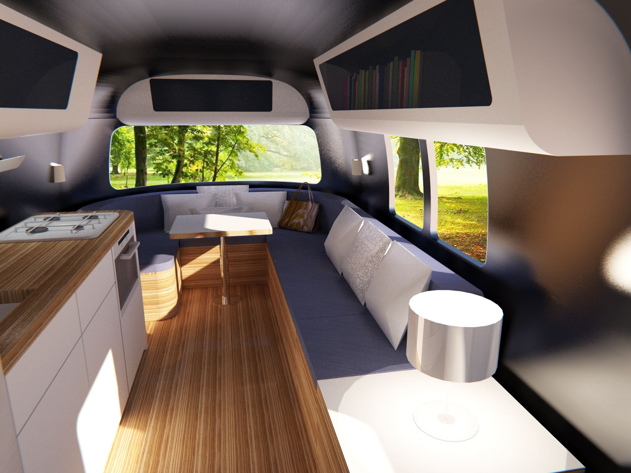 Caravan modern living google search compact living for Interior caravan designs