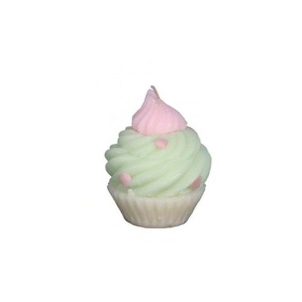 Green Pink Scented Cupcake Candle ($5) ❤ liked on Polyvore featuring home, home decor, candles & candleholders, pink home decor, pink scented candles, scented candles, cupcake scented candles and cupcake home decor
