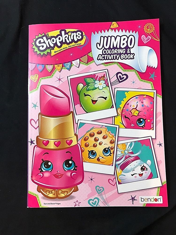 New Shopkins Jumbo Coloring And Activity Book Valentines
