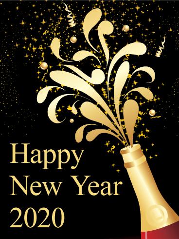 New Year 2020 Ecard Wallpaper Iphone Happy New Year Images Happy New Year Cards New Year Wishes Images