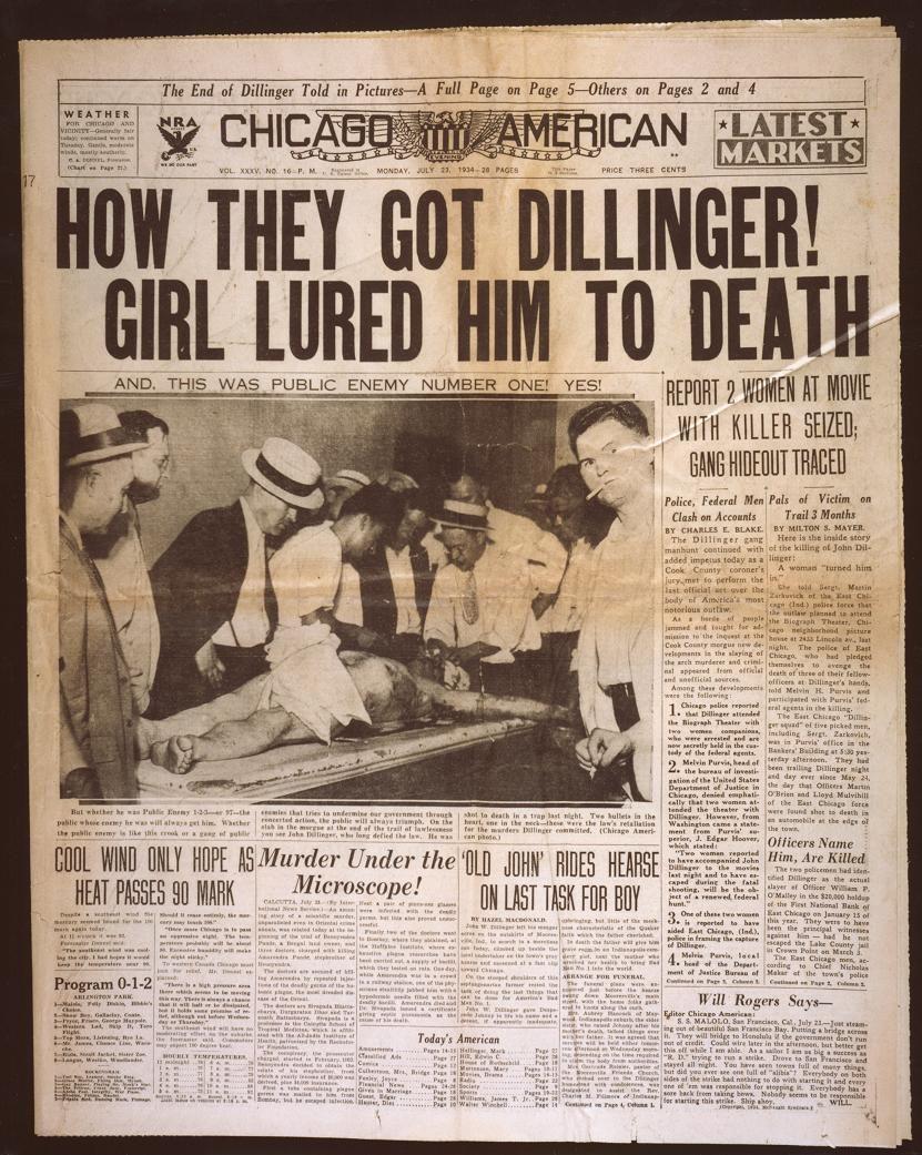john dillinger essay Alcatraz essaysamerica  of the prisoners were popular such as al capone,  george machine gun kelly, albert bates, harvey bailey and john dillinger.