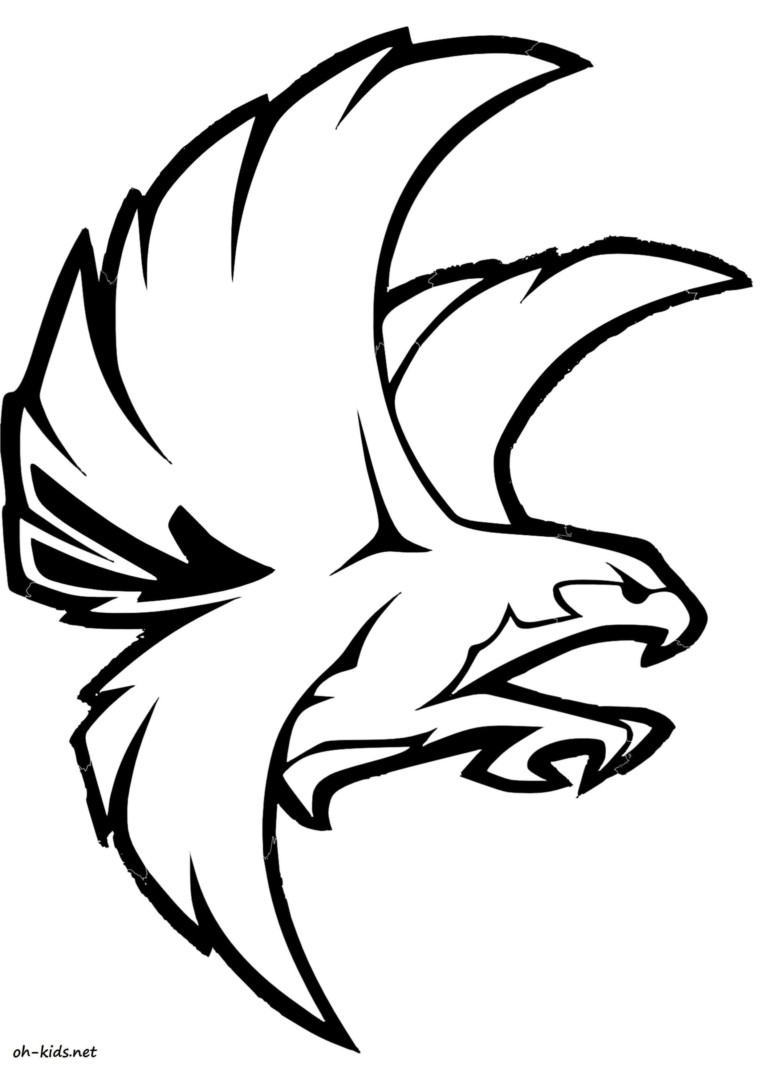 Dessin De Faucon à Colorier Image 1573 Illustrations Falcon