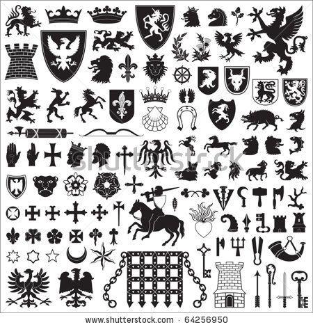 medieval heraldry symbols heraldic symbols and elements