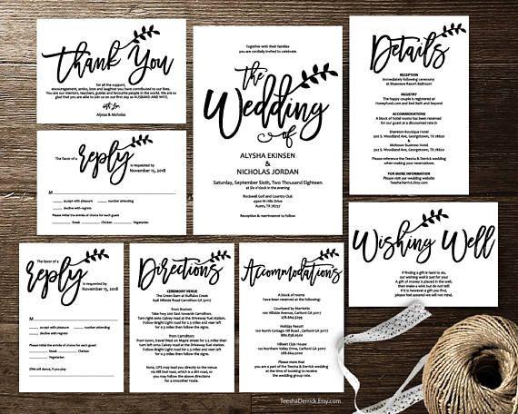 Rustic wedding invitation cards suite instant download pdf rustic wedding invitation cards suite instant download pdf stopboris Gallery