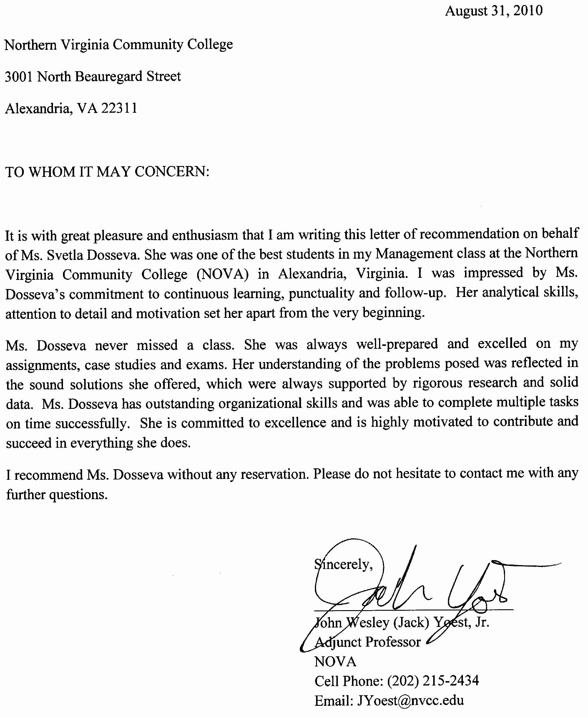 Reference Letter for A Job Unique the Reference Letter How