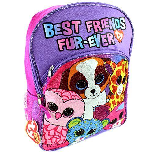 d83a012ca5b Ty Beanie Boo Backpack Girls Backpack Canvas 16 School Ki... https