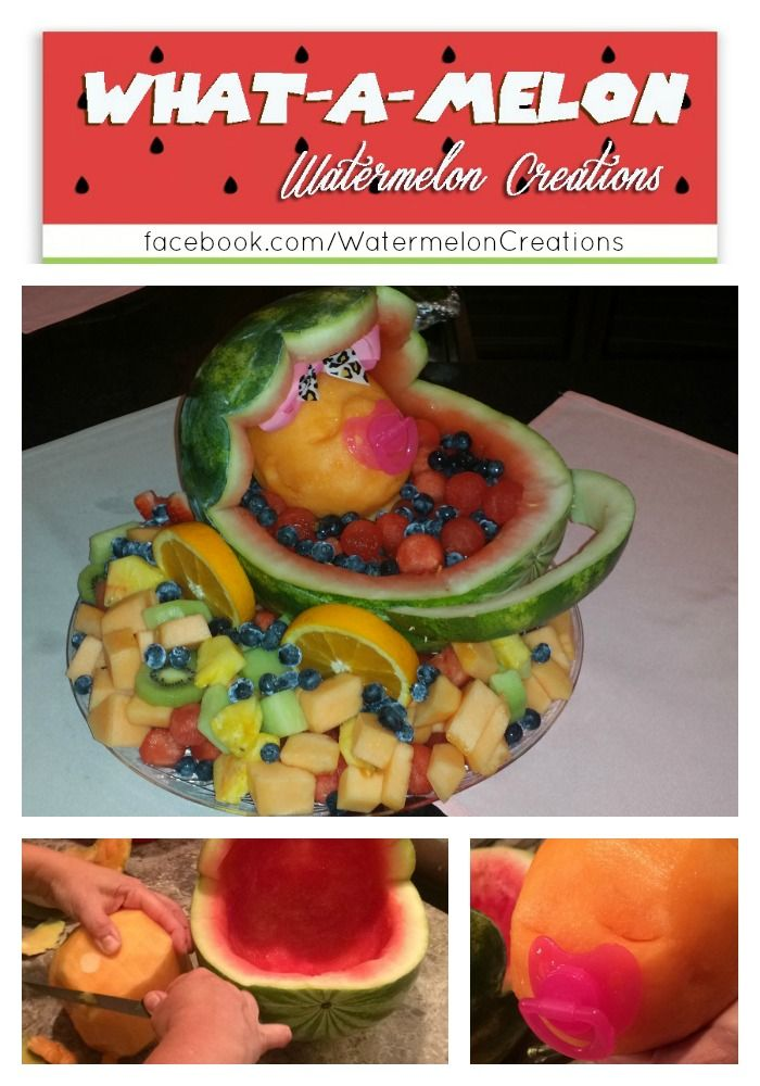 Whatamelon Watermelon Creations Baby Carriage Baby Shower Food