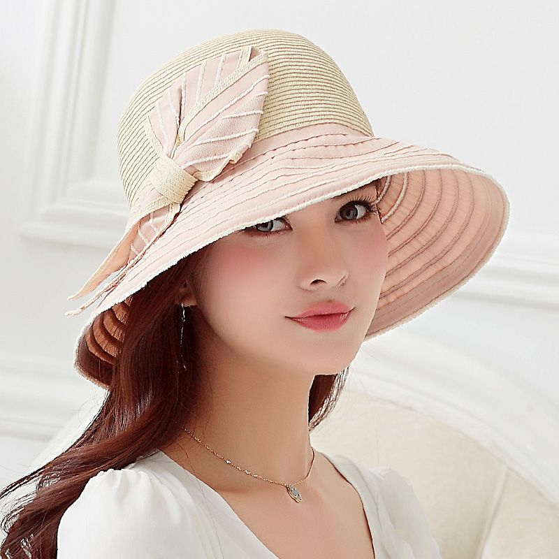Handmade Straw Sun Hat With Bow Best Womens Hats For Sun Protection Summer Wear Hats For Women Sun Hats For Women Dressy Hats