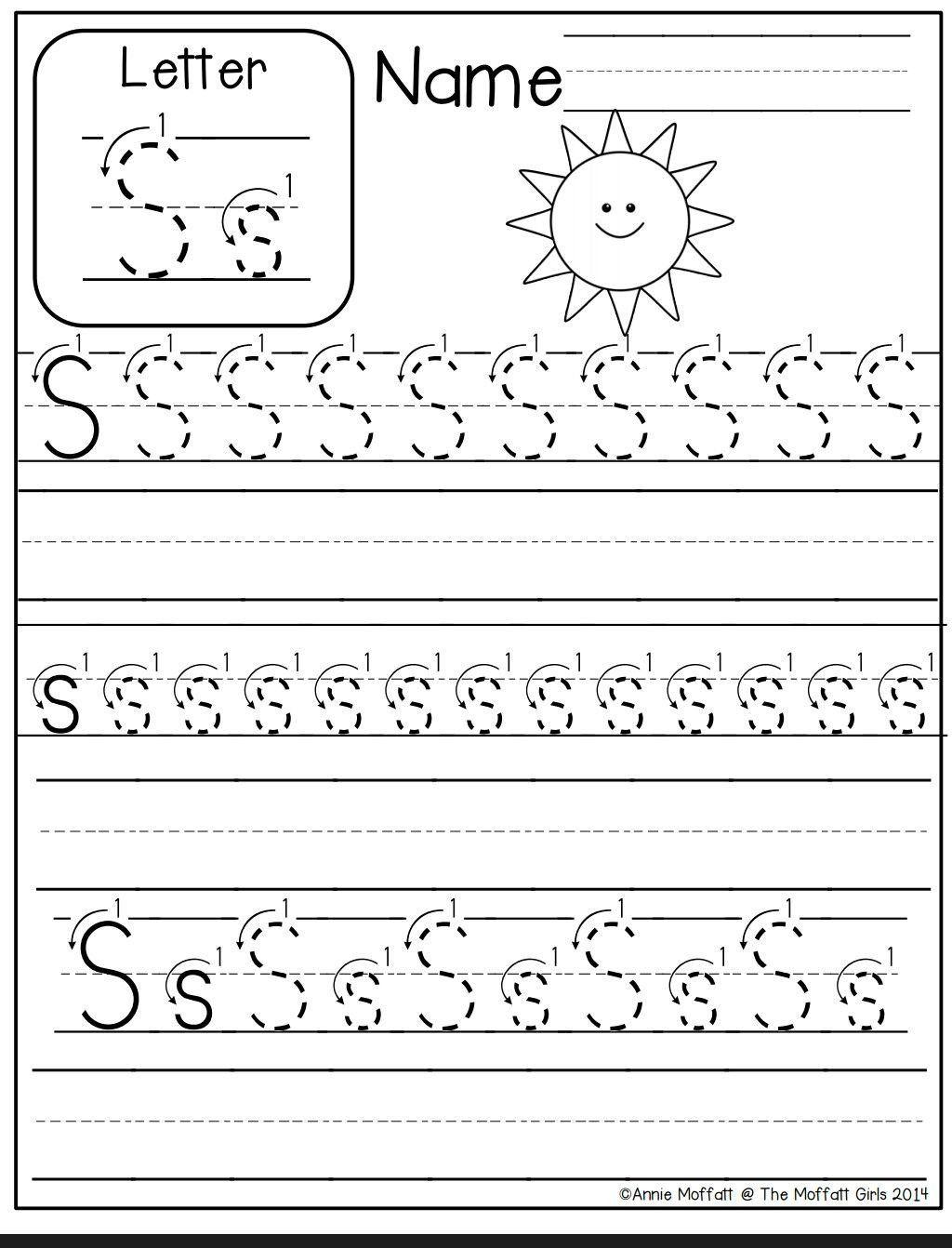 Writing Worksheets For Preschoolers Math Worksheet