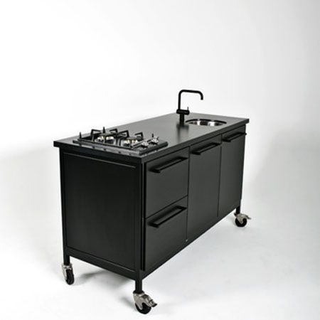 Portable Modular Kitchen On Wheels Kitchens  Pinterest Stunning Compact Modular Kitchen Designs Decorating Design