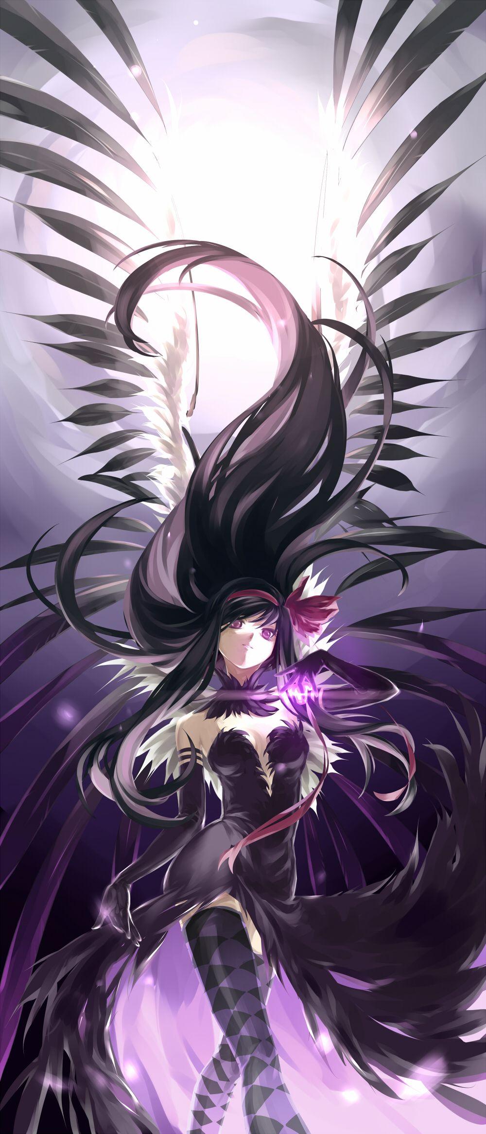 Madoka Magica, Homura, by NYE Custom Token Art
