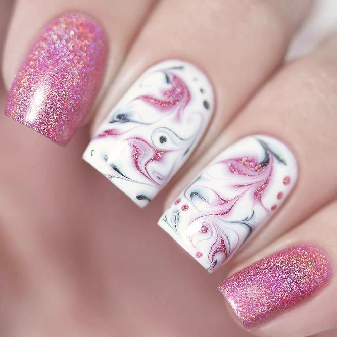 21 Pink Nails Designs to Look Romantic and Girly | Pink nails, Abstract nail  art and Manicure - 21 Pink Nails Designs To Look Romantic And Girly Pink Nails