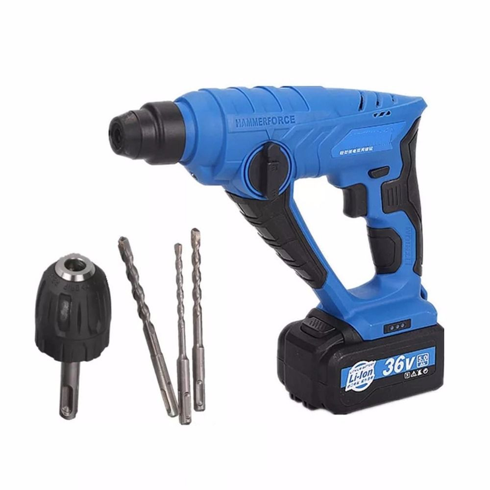 36v Cordless Lithium Battery Electric Hammer Drill Wall Impact