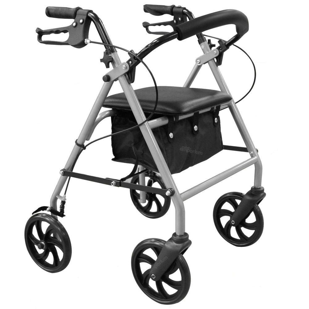 Lightweight folding rollator 4 wheel walker mobility