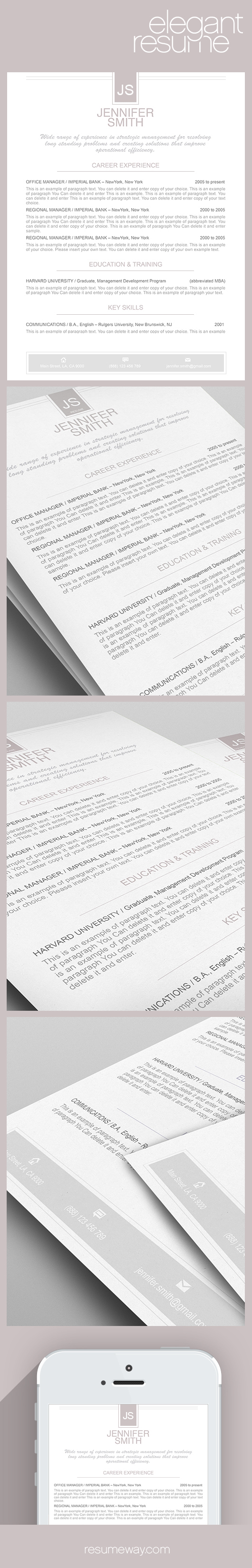 elegant resume template 110440