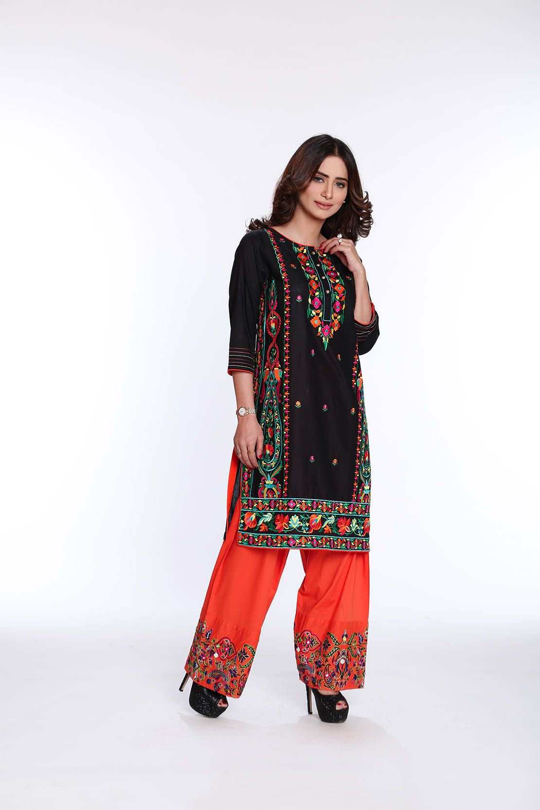 Rang Ja Latest Colorful Kurti Dresses 2019 2020 Eid Collection