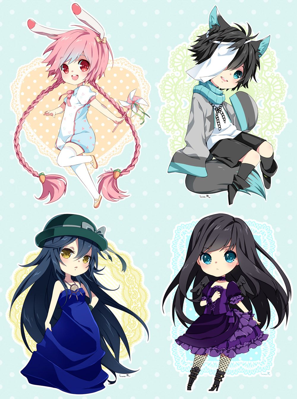 Chibi commission batch 27 by inma Character Concepts