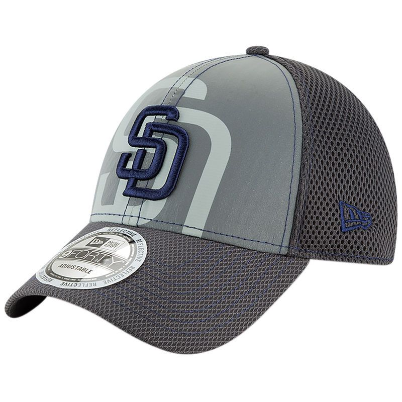 designer fashion 9d054 553f2 San Diego Padres New Era Youth Meshed Flect 9FORTY Adjustable Hat – Gray