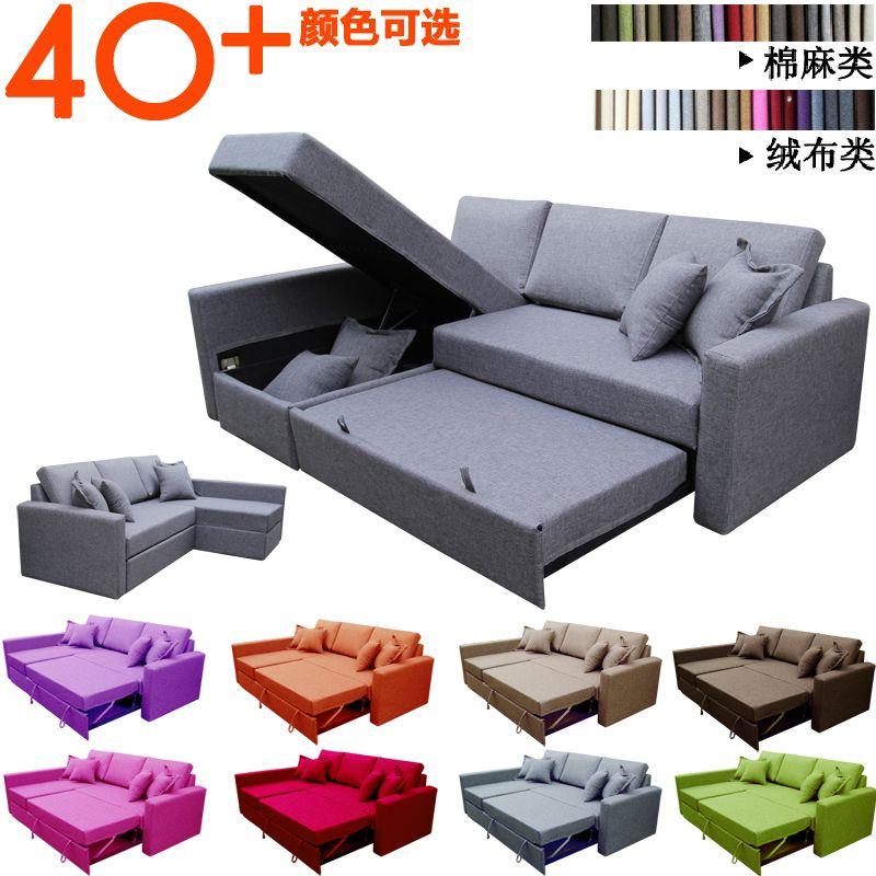 Small Apartment Corner Sofa Bed Should Parents Multifunction Armrest Storage Minimalist All Washable Double Sofa Corner Sofa Bed Double Sofa Bed Corner Sofa