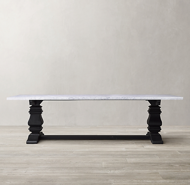 Salvaged Wood Marble Trestle Rectangular Dining Table Dining Table Marble Rectangular Dining Table Dining Table