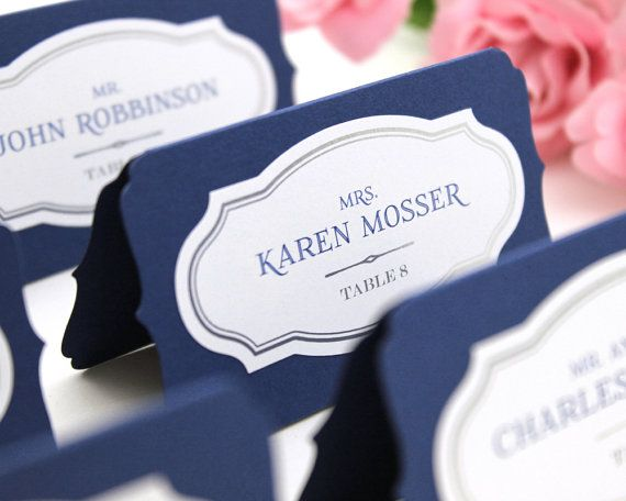 Custom Place Cards Wedding By Wishdesignstudio
