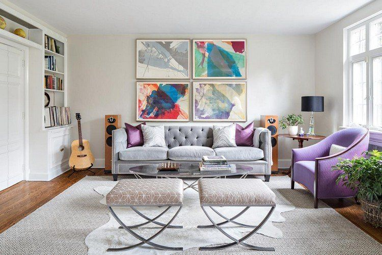 b65b43315e8 Déco salon gris blanc bois en 35 idées pour revitaliser votre ...