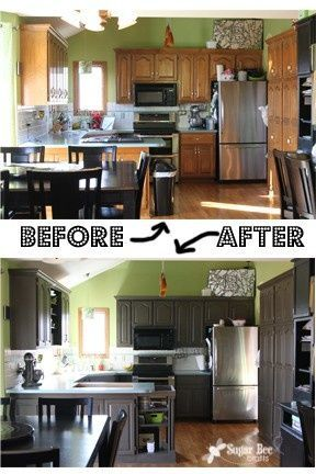 Color negro o gris oscuro para los gabinetes de la cocina - Colores para pintar una cocina ...