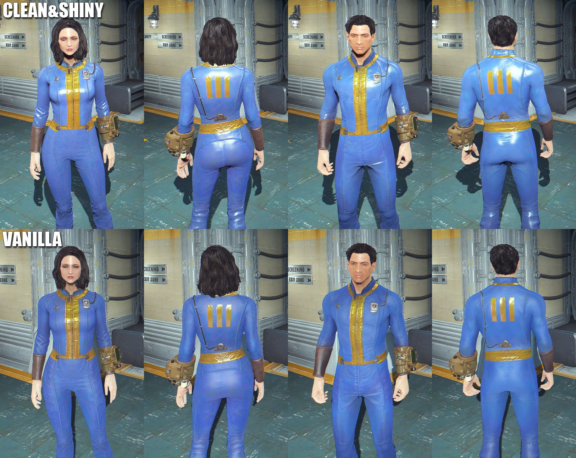 Simple edited default clean(new) vault suit. I got rid of these inserts on armslegsbody and tried to make it more shiny. Fallout Cosplay ...